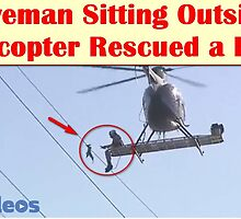 Braveman Sitting Outside a Helicopter Rescued a Bird  by mustwatchvid