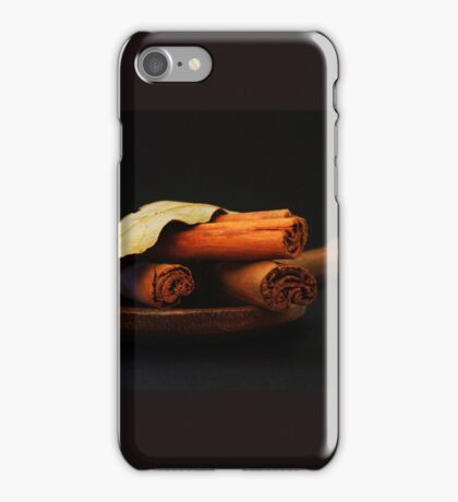 wooden spoon and cinnamon iPhone Case/Skin