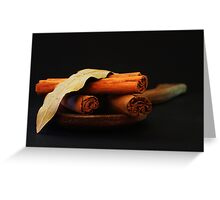 wooden spoon and cinnamon Greeting Card