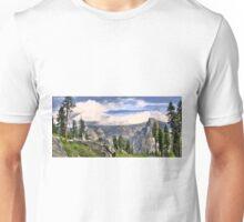 half dome panorama Unisex T-Shirt