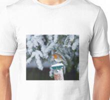 European Robin in Snow Unisex T-Shirt