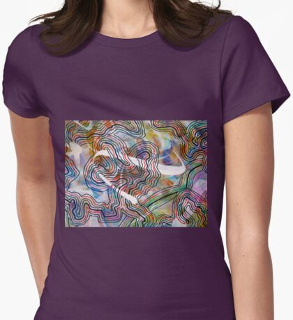 Cosmic Energies 2 enhanced Womens Fitted T-Shirt