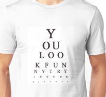 Funny Snellen Chart - WHITE Unisex T-Shirt