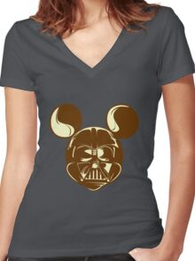 Mickey Vader Women's Fitted V-Neck T-Shirt