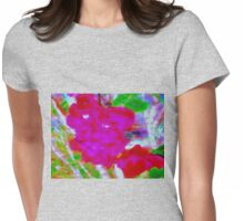 Red sword lily flowers Womens Fitted T-Shirt