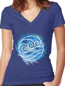 Water Tribe Women's Fitted V-Neck T-Shirt