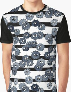 Soot Sprites with Stripes Graphic T-Shirt