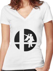 Dark Pit - Super Smash Bros. Women's Fitted V-Neck T-Shirt