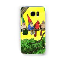 Gnomes and cardinals, perched on a branch, enjoying the air Samsung Galaxy Case/Skin