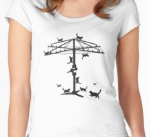 Hills Hoist cats - 2 Women's Fitted Scoop T-Shirt