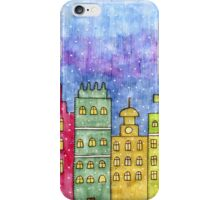 Watercolor city. Old buildings iPhone Case/Skin