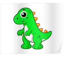 Cute illustration of Tyrannosaurus Rex. Poster