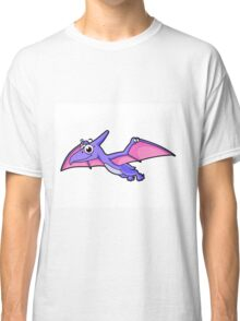 Cute illustration of a flying pterodactyl. Classic T-Shirt