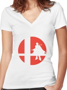 Roy - Super Smash Bros. Women's Fitted V-Neck T-Shirt