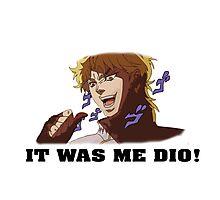 JoJo's Bizarre Adventure: IT WAS ME DIO! (With Icons) Photographic Print
