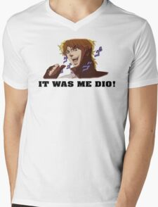 JoJo's Bizarre Adventure: IT WAS ME DIO! (With Icons) Mens V-Neck T-Shirt