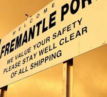 Welcome To Fremantle Sticker