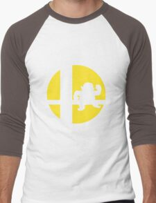 Wario - Super Smash Bros. Men's Baseball ¾ T-Shirt