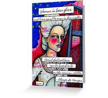 Olympe de Gouges Greeting Card