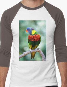 Rainbow Lorikeet I Men's Baseball ¾ T-Shirt