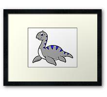 Cute illustration of a Loch Ness Monster. Framed Print