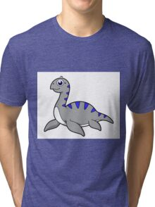 Cute illustration of a Loch Ness Monster. Tri-blend T-Shirt