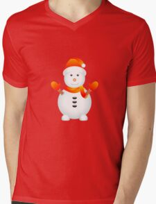 Snowman with Red Background T-Shirt