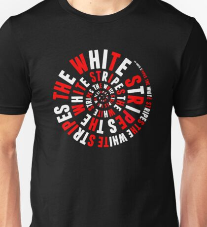 White Stripes Whirlpool Unisex T-Shirt