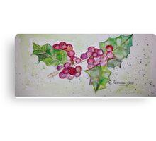 Holly Berries for Seasons Spirit Canvas Print