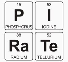 P I Ra Te - Pirate - Periodic Table - Chemistry One Piece - Short Sleeve