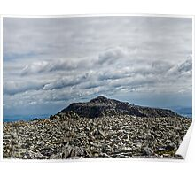Glyders Snowdonia Poster
