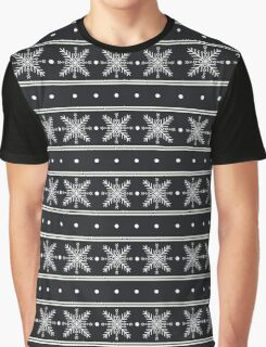 Snowflake pattern Graphic T-Shirt