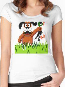 """Retro Retriever"" Duck Hunt Women's Fitted Scoop T-Shirt"