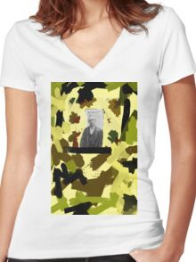 Arrested in Omaha Women's Fitted V-Neck T-Shirt