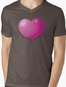 3D Heart hearts in pink Mens V-Neck T-Shirt