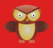 the owl with the angry stare Kids Tee