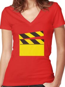 Blank FILM movie board Women's Fitted V-Neck T-Shirt