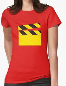 Blank FILM movie board Womens Fitted T-Shirt