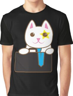 Business CAT with a suitcase Graphic T-Shirt