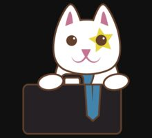 Business CAT with a suitcase Kids Tee