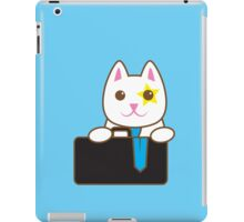 Business CAT with a suitcase iPad Case/Skin