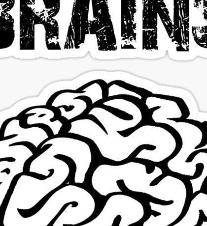 BRAINS by Zombie Ghetto Sticker