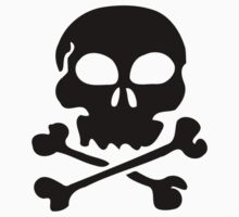 SKULL AND CROSSBONES by Zombie Ghetto One Piece - Short Sleeve