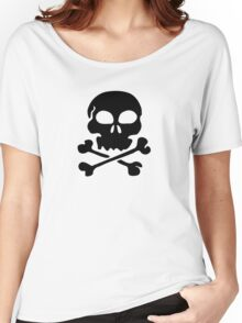 SKULL AND CROSSBONES by Zombie Ghetto Women's Relaxed Fit T-Shirt
