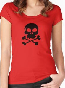 SKULL AND CROSSBONES by Zombie Ghetto Women's Fitted Scoop T-Shirt
