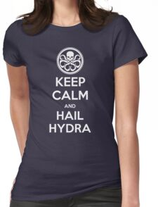 KEEP CALM and HAIL HYDRA Womens Fitted T-Shirt