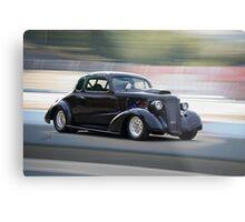 1936 Chevrolet 'Asphalt Aggravation' Coupe Metal Print