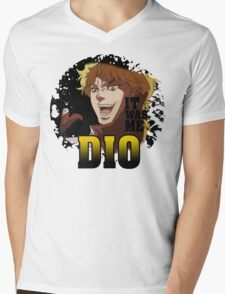 JoJo's Bizarre Adventure - IT WAS ME DIO! Logo Mens V-Neck T-Shirt