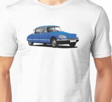 Citroen DS illustration, blue Unisex T-Shirt