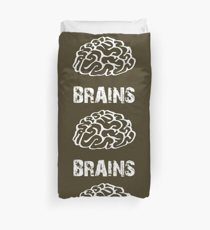 BRAINS by Zombie Ghetto Duvet Cover